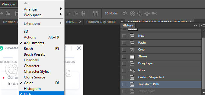 how to undo multiple times in photoshop cs6