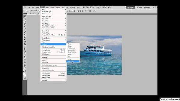 How to Rasterize Smart Objects, Type, Video, 3D Layers