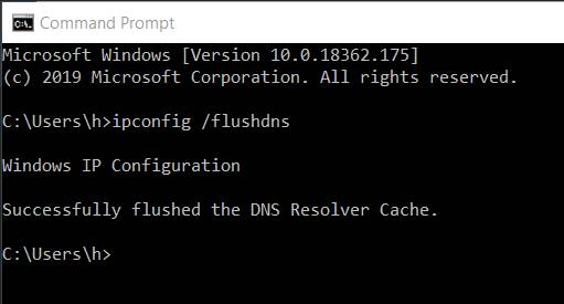 Clear Flushing Cache to fix DNS_Probe_Finished_Nxdomain error